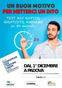 TEST HIV PADOVA ARCIGAY PROTEST