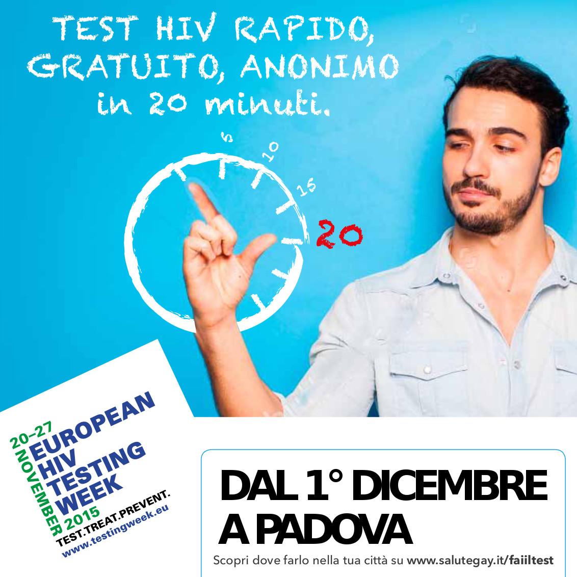TEST HIV – EUROPEAN TESTING WEEK PADOVA