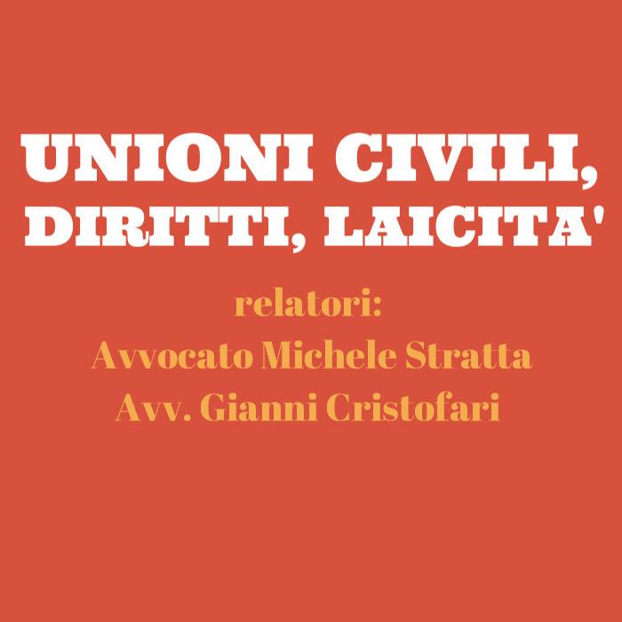 """Conferenza """"unioni civili, diritti, laicità"""""""